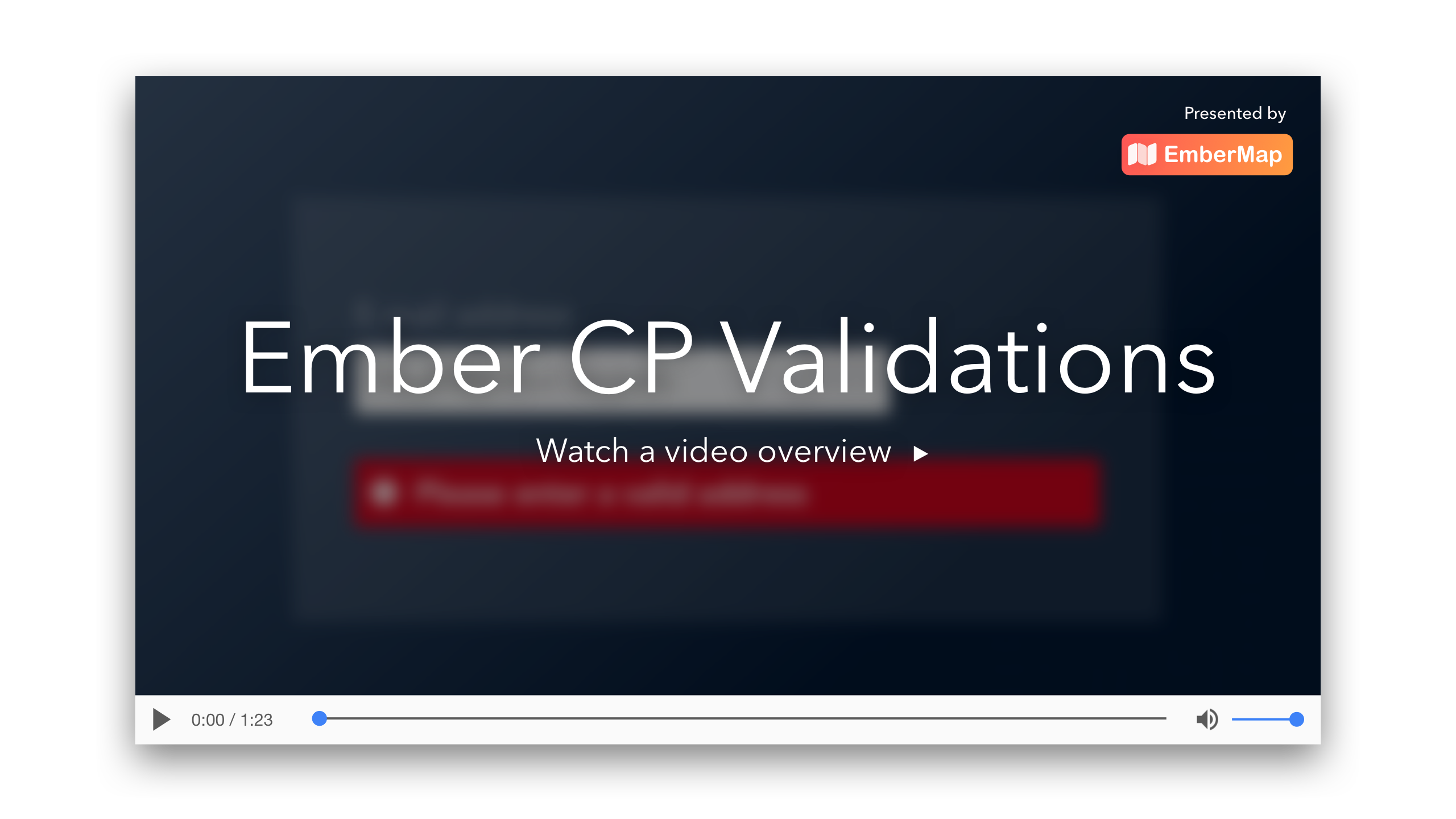 Introduction to Ember CP Validations