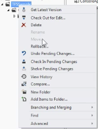 vs2013 sourcecontrolexplorer alt-click