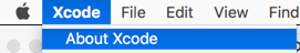 xcode about 271x48