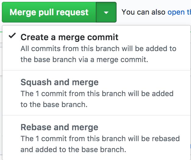 github merge pull request menu