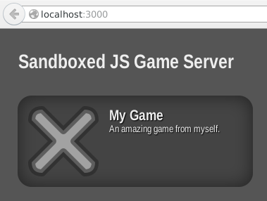 my-game on the server