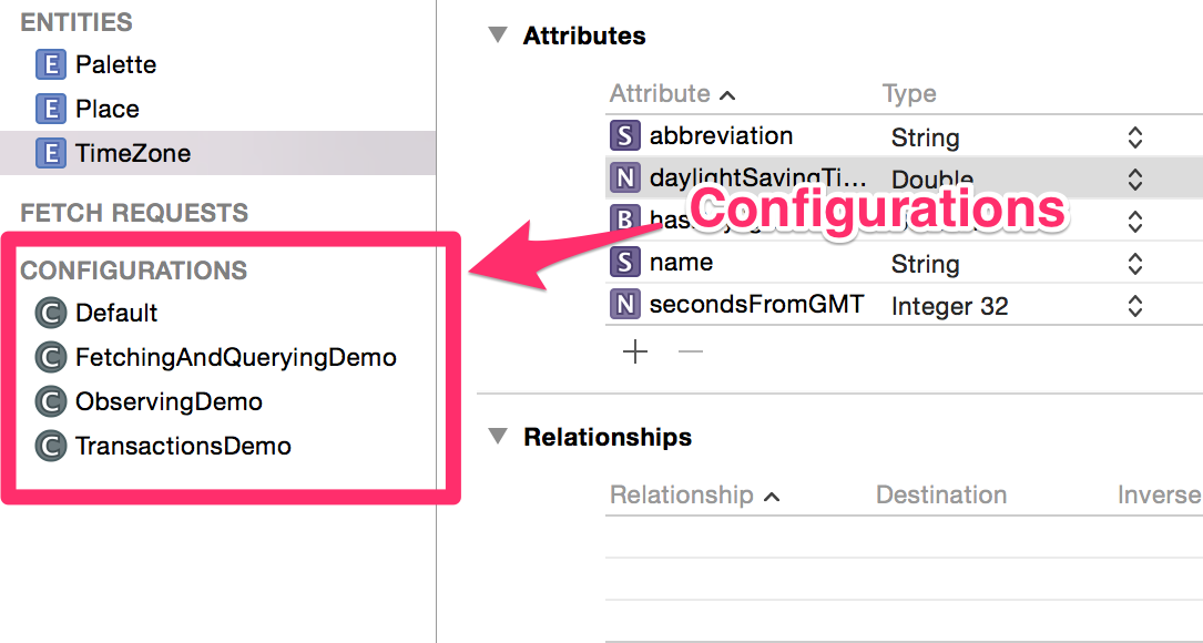 xcode configurations screenshot