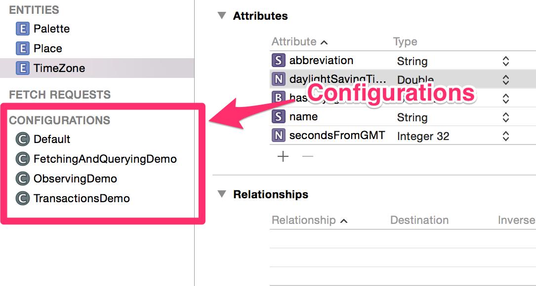 xcode configurations screenshot