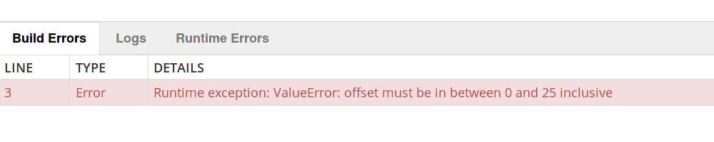 month-error