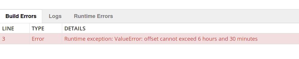 time-error