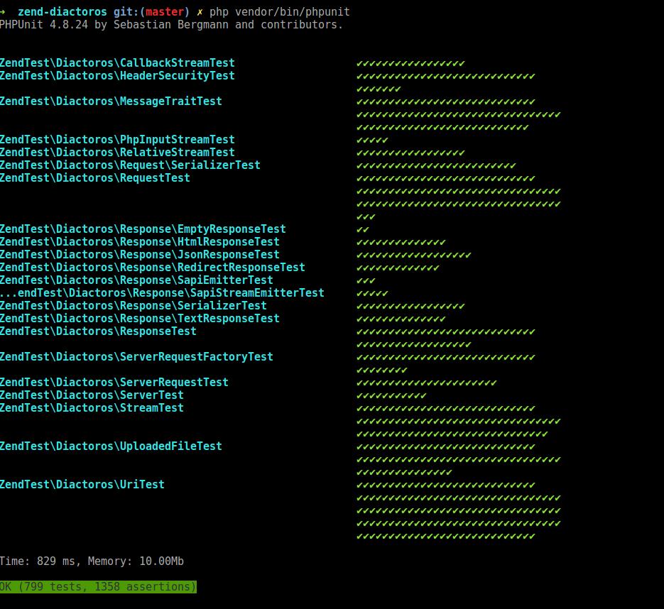 PHPUnitPrettyResultPrinter Screenshot