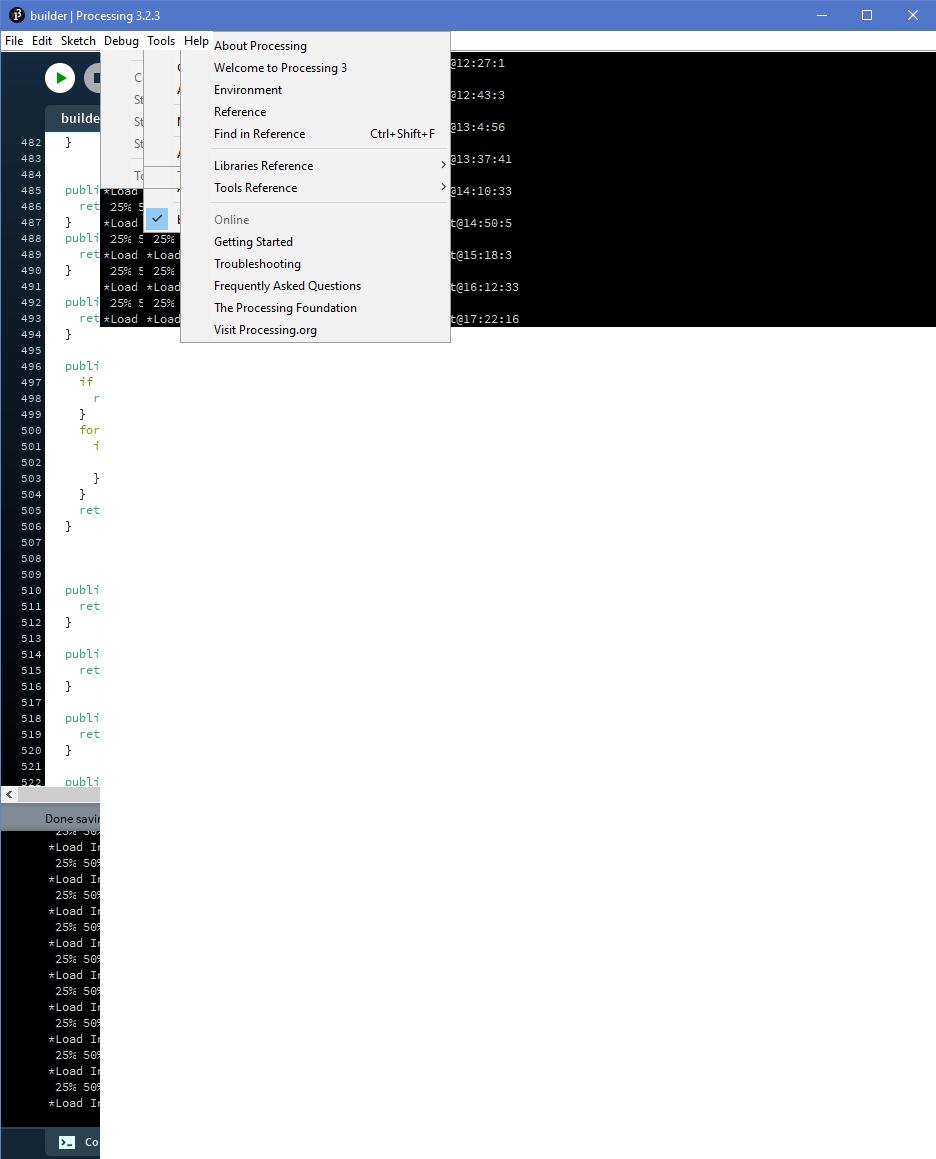 processing 3 2 3 bug