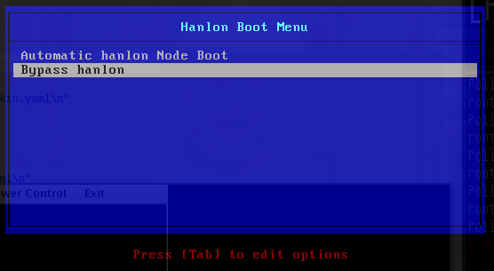 Hanlon Boot Menu
