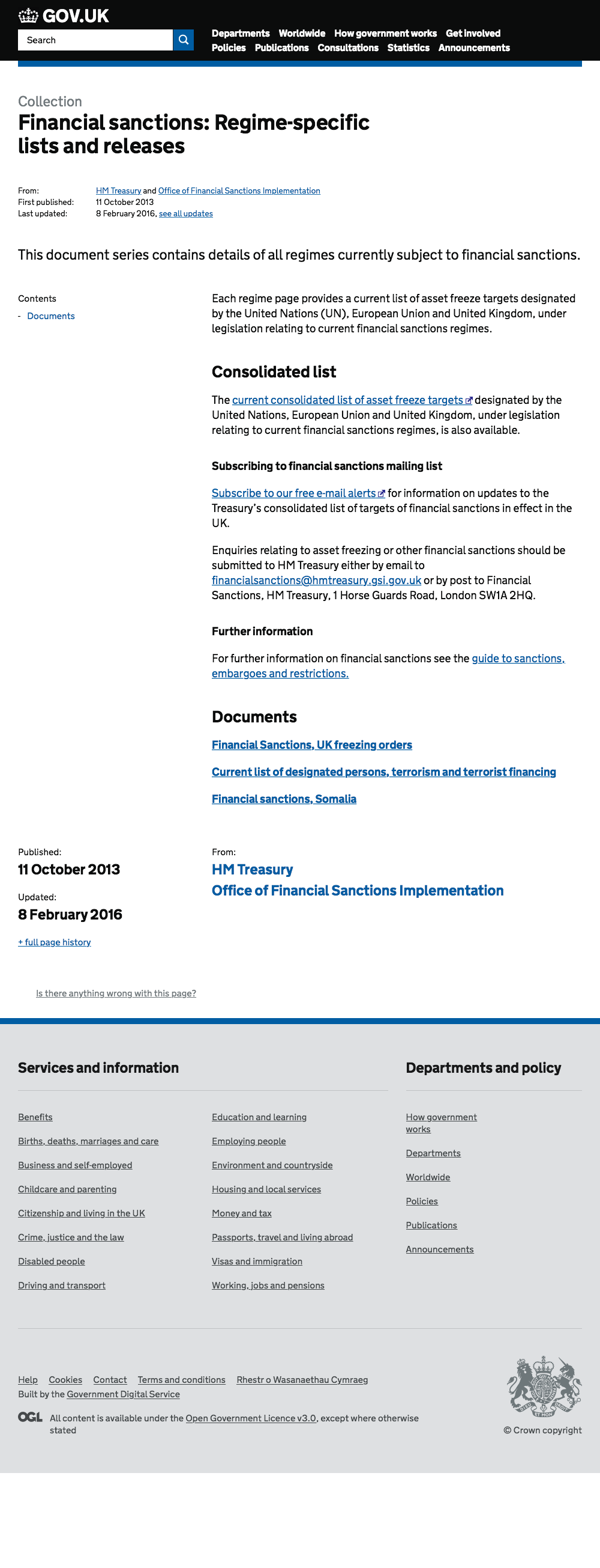 financial sanctions-regime-specific lists and releases - gov uk 20160524