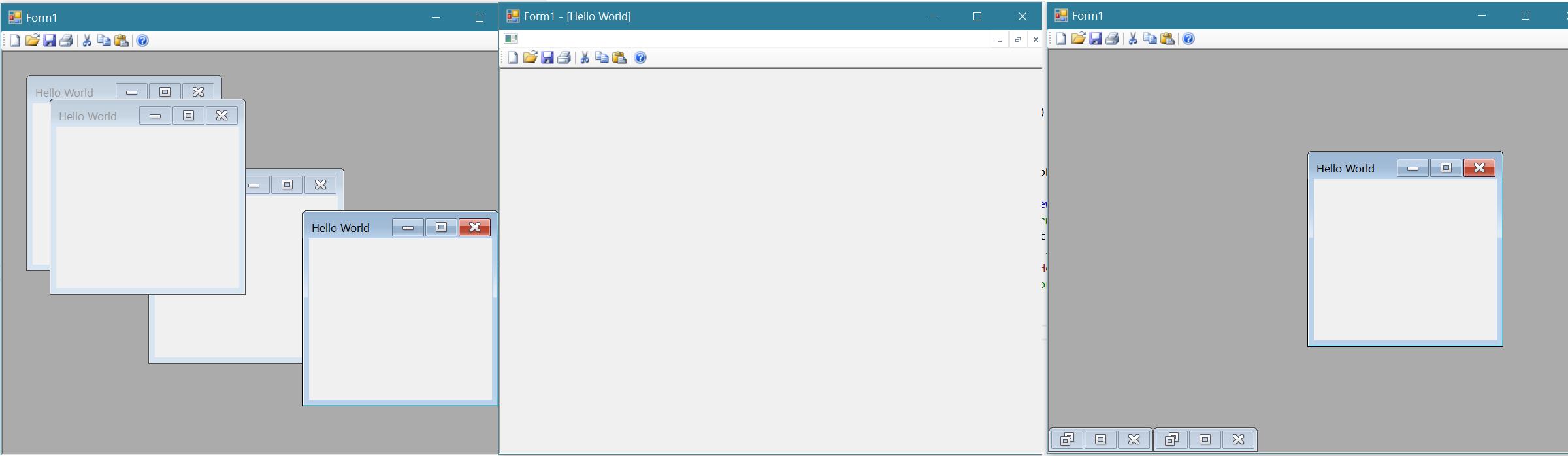 Windows Forms MDI Icon