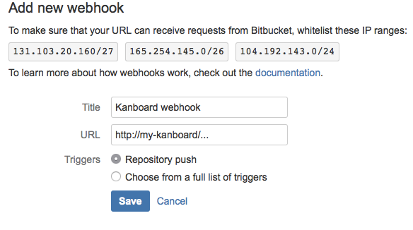 Bitbucket configuration