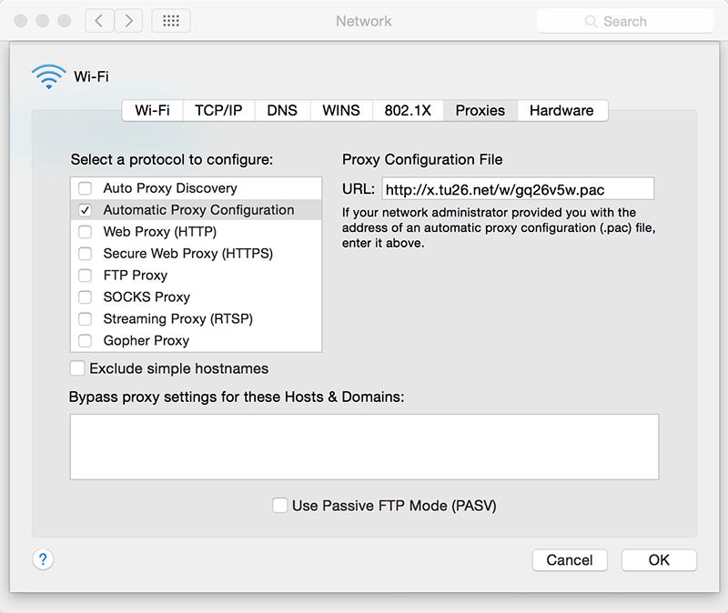 Mac PAC 配置