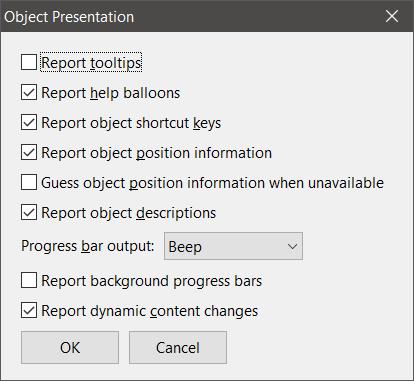 object presentation