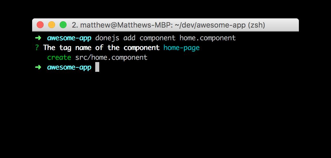 donejs add component