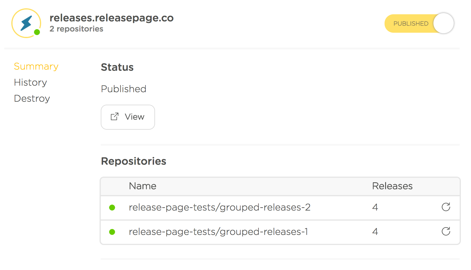 release-page-details-page-summary-tab