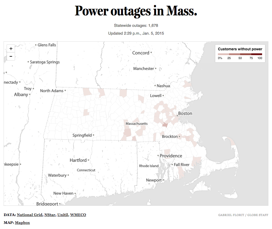 Power outages in Mass.