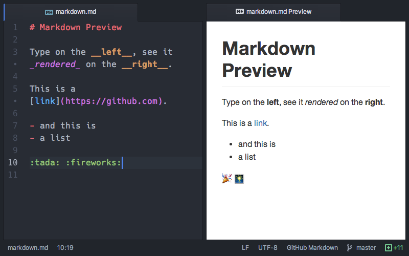 markdown-preview GitHub style
