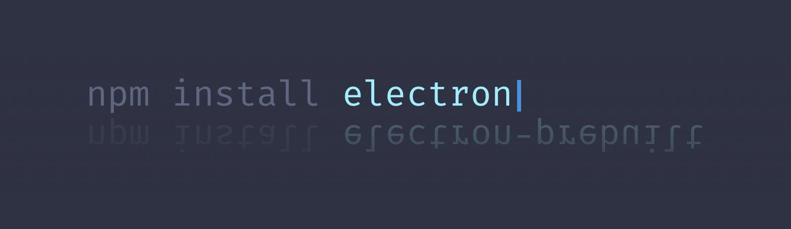 npm install electron