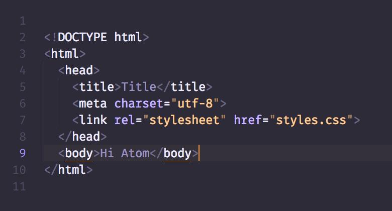 HTML in DuoTone dark