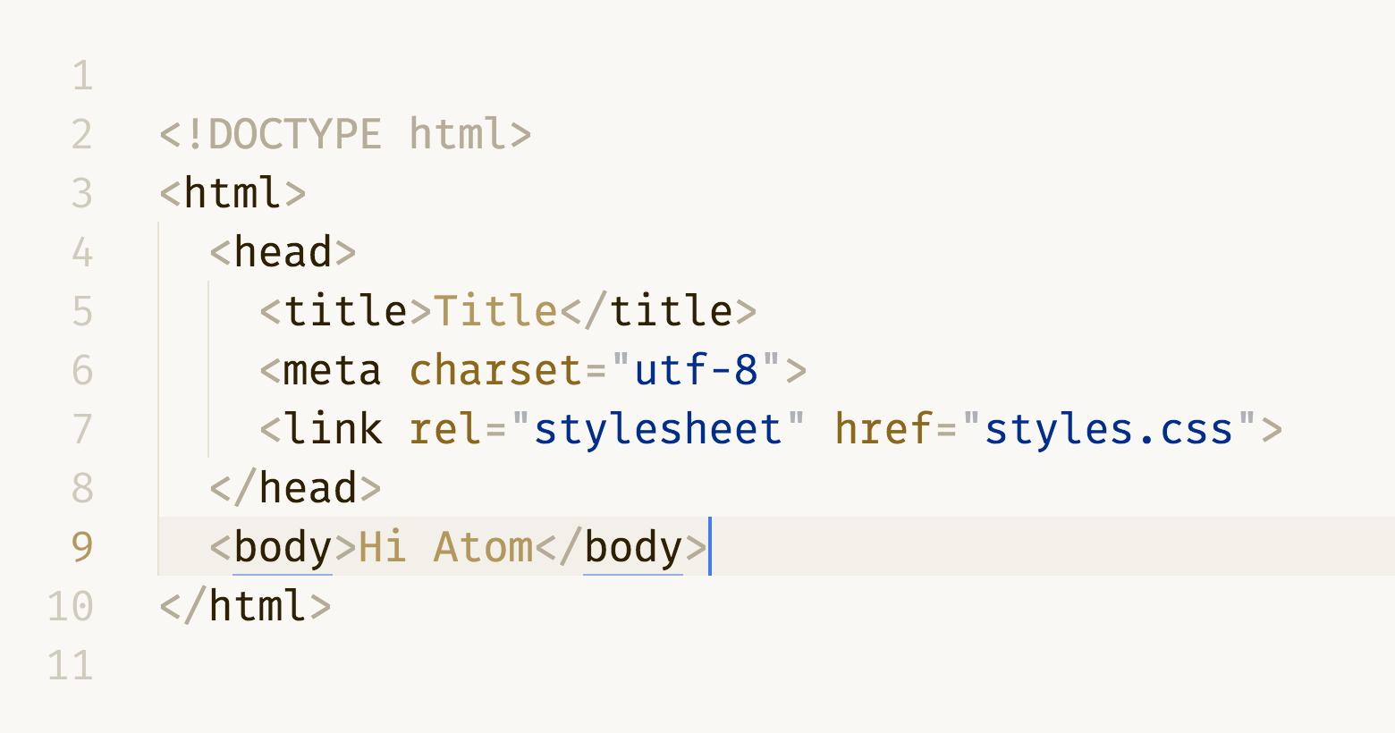 HTML in DuoTone light