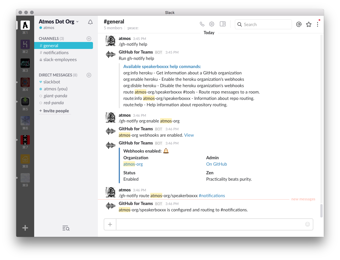 ChatOps with Slack and GitHub