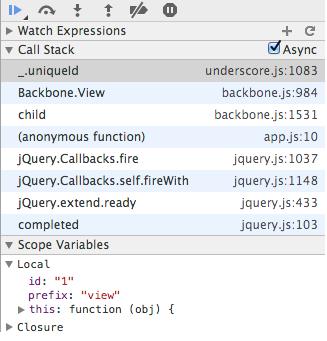 불필요한 jQuery, Backbone 콜스택정보