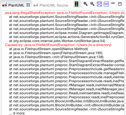 plantuml-exception