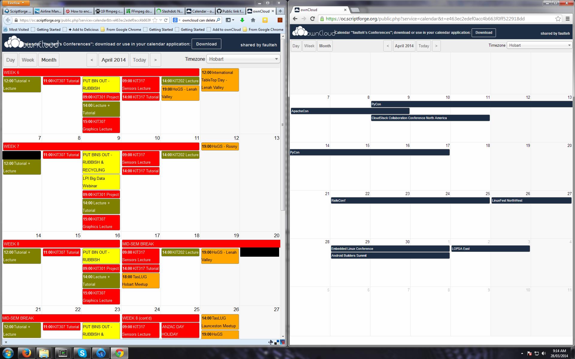 oc-calendar-public-link-logged-in-bug
