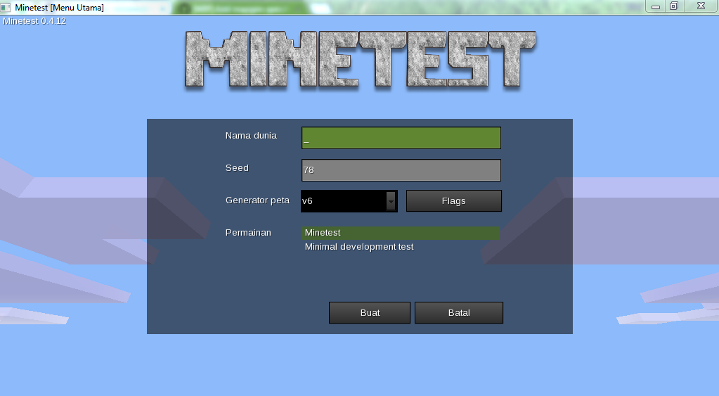 minetest-201503270609 mainmenu create world dialog flags