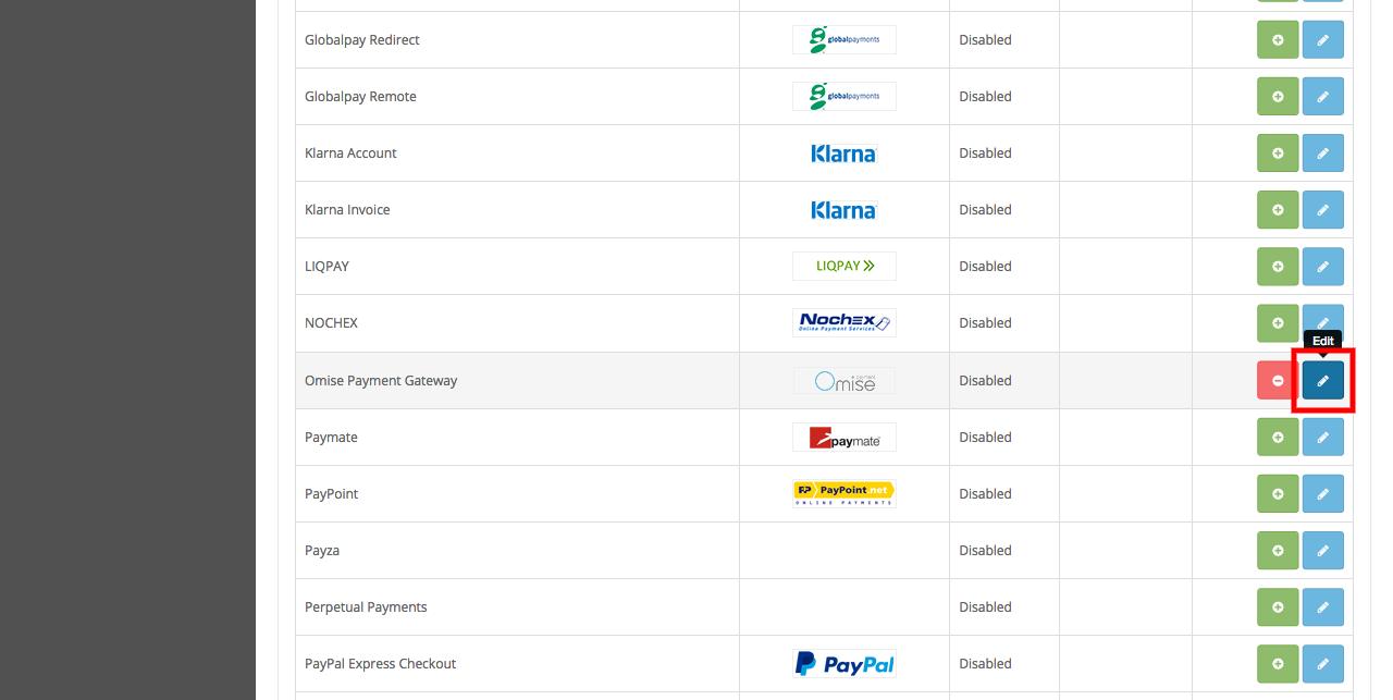 Configure Omise Payment Gateway extension