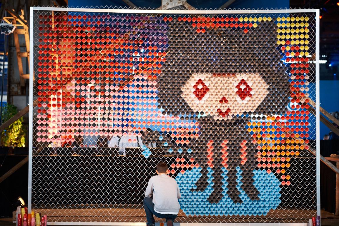 Octocat installation from Universe 2015