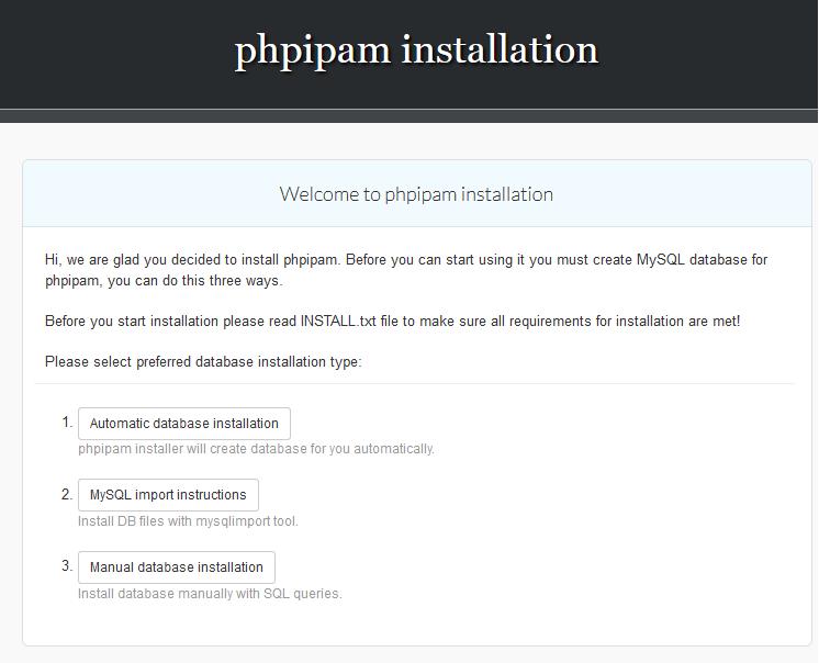 phpIPAM自动导入数据库