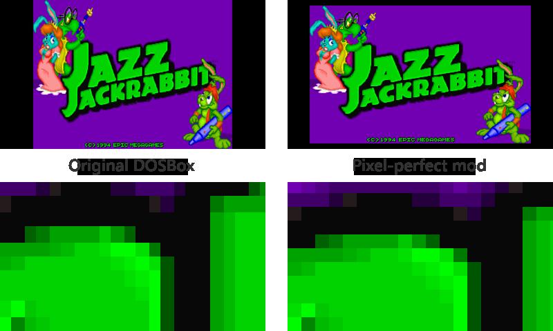 DOSBox original vs pixel-perfect mod