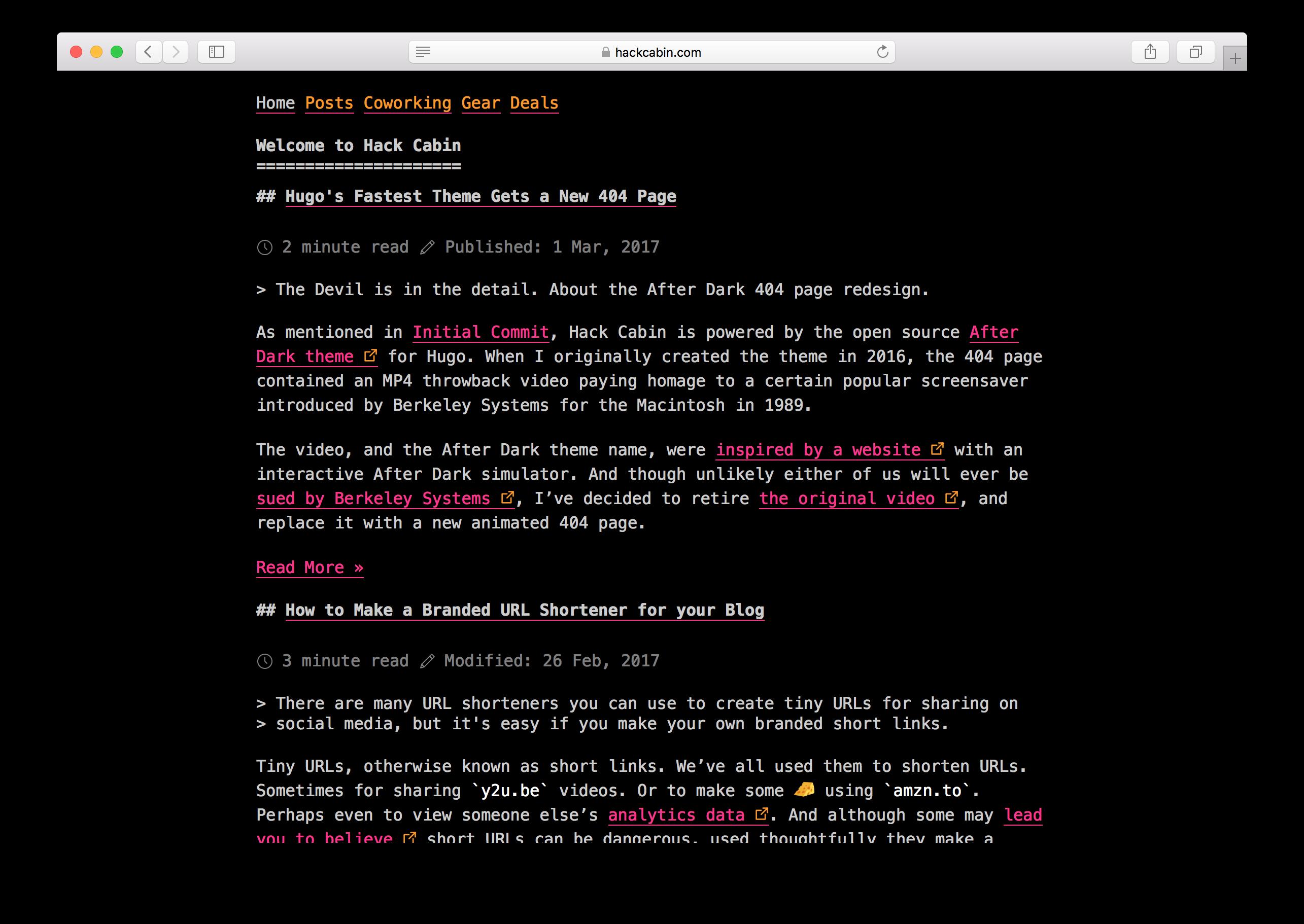 hackcabin.com screenshot