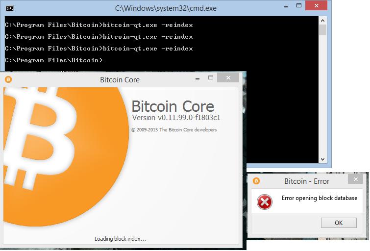 block database error