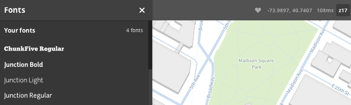 fonts tab updated