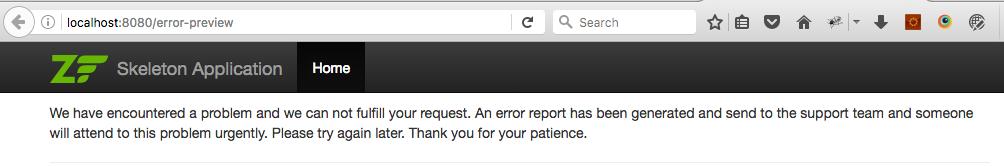 error preview in web