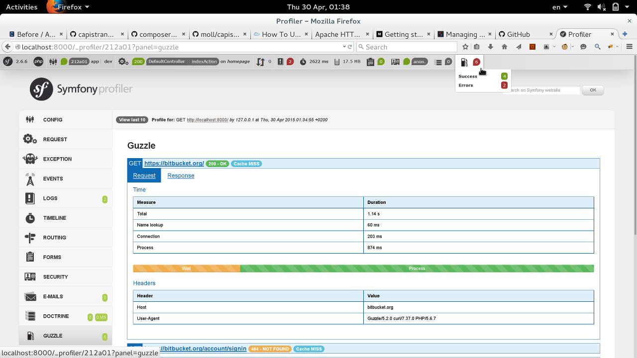 Profiler panel integration