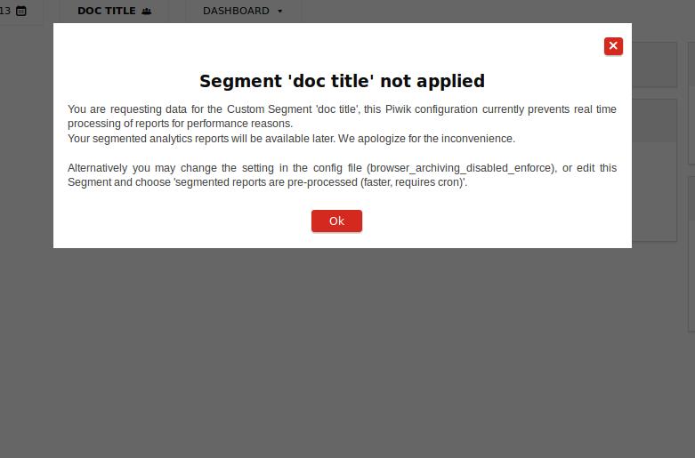 segment not applied