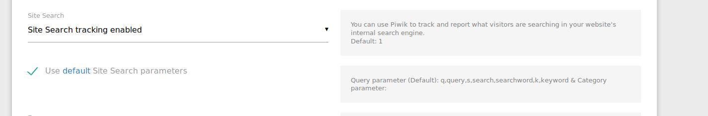 use default site search parameters