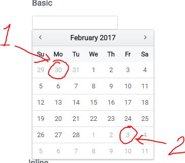 calendar issue