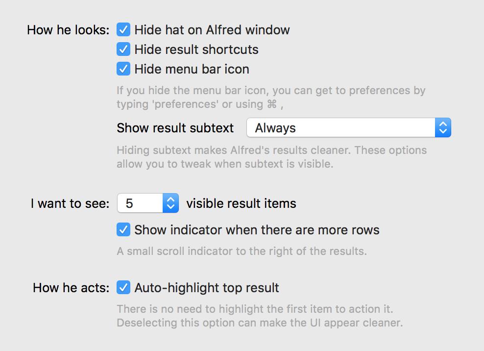 alfred screenshot options