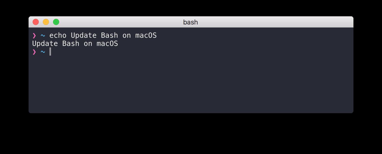 Update Bash on macOS