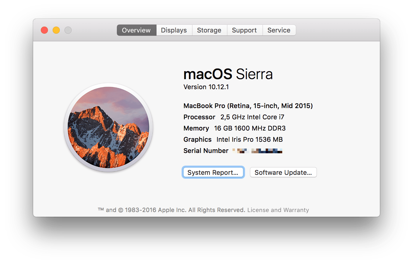 macOS about box