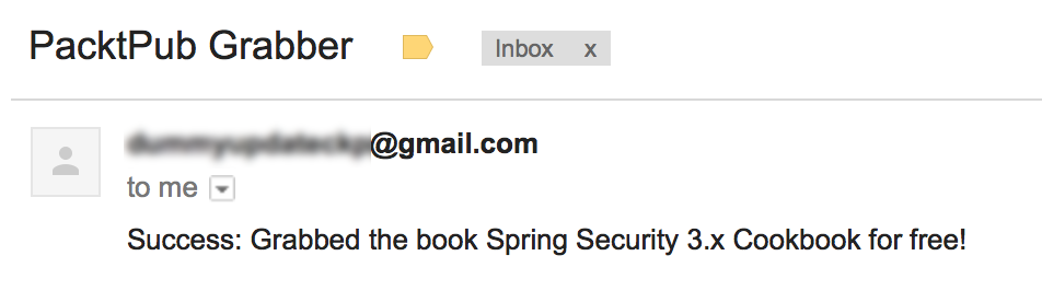 Email From PacktPub Grabber