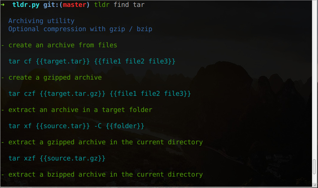 tar-tldr-page