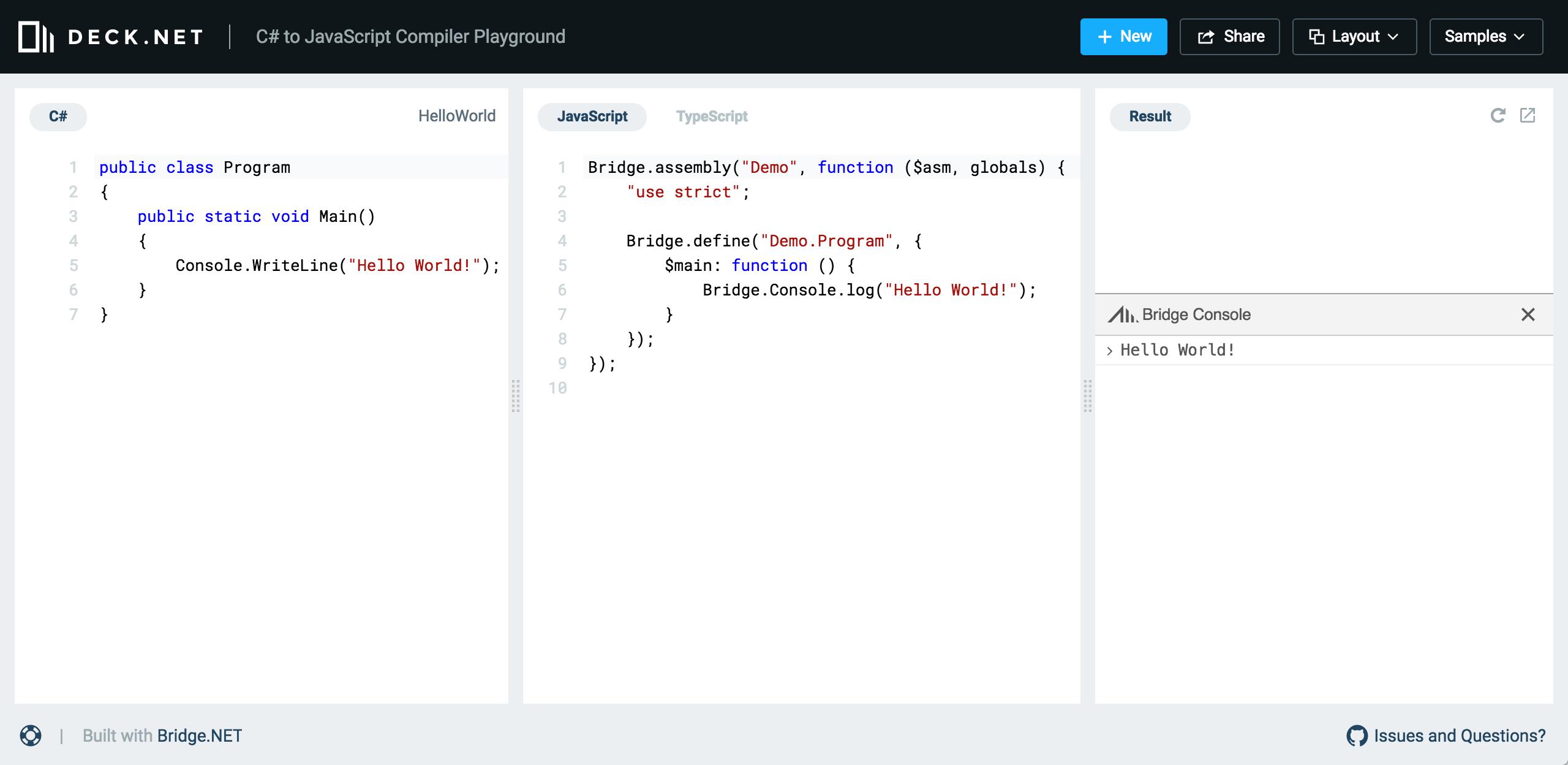 Deck.NET Screenshot