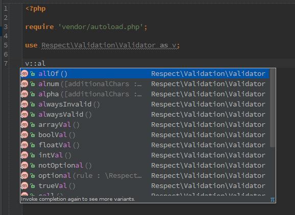 validation autocomplete