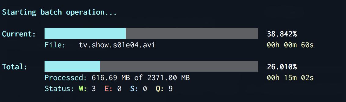 batch-transcode-video screenshot 1