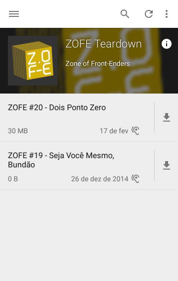 Lista de podcast, com o atributo length consertado